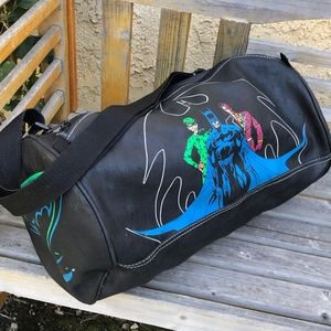 Vtg '95 Batman Forever DC Comics Black Duffle Bag